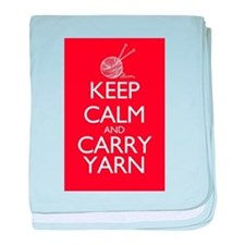 Keep Calm and Carry Yarn baby blanket