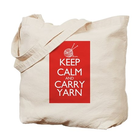 Keep Calm and Carry Yarn Tote Bag