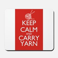 Keep Calm and Carry Yarn Mousepad