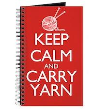 Keep Calm and Carry Yarn Journal