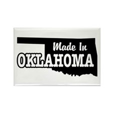 Made In Oklahoma Rectangle Magnet