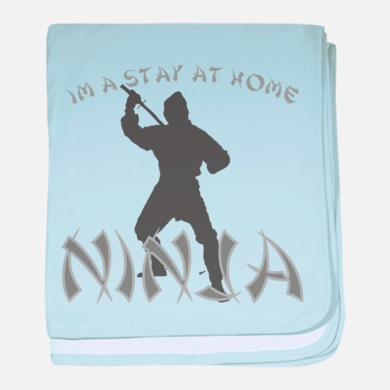 Stay at Home NINJA baby blanket