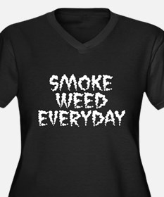 Smoke Weed Everyday - Smog Women's Plus Size V-Nec