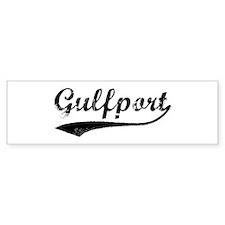 Vintage Gulfport Bumper Bumper Sticker