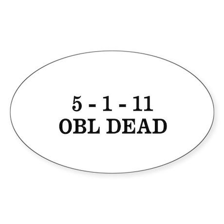 5-1-11 OBL DEAD Sticker (Oval)