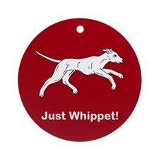 Just Whippet Ornament (Round)