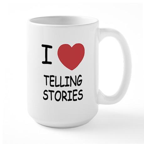 i heart telling stories Large Mug