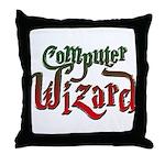 Computer Wizard Throw Pillow