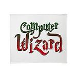 Computer Wizard Throw Blanket