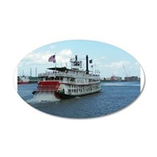 Mississippi Riverboat 22x14 Oval Wall Peel