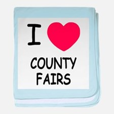 i heart county fairs baby blanket