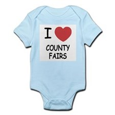 i heart county fairs Infant Bodysuit