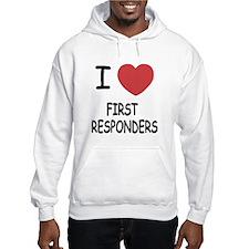 i heart first responders Hoodie Sweatshirt