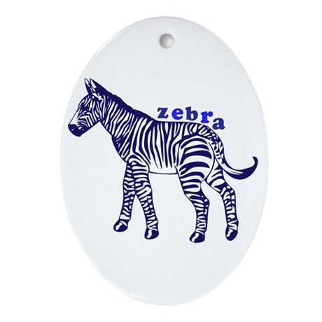 Zebra Ornament (Oval)