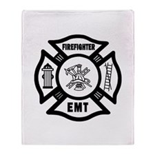Firefighter EMT Throw Blanket