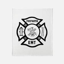 Firefighter EMT Throw Blanket