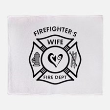 Firefighters Wife Throw Blanket