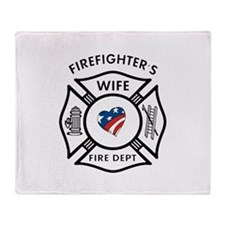Fire Fighter Wife Throw Blanket