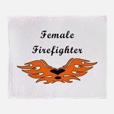 Female Firefighters Throw Blanket
