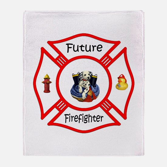 Future Firefighter Red Throw Blanket