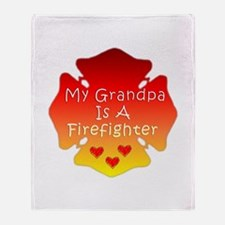 My Grandpa Is A Firefighter Throw Blanket