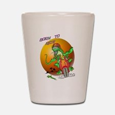 Born to Ride Lizard Shot Glass