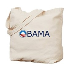 Obama Blue Text Tote Bag