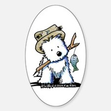 Fishing Westie Decal