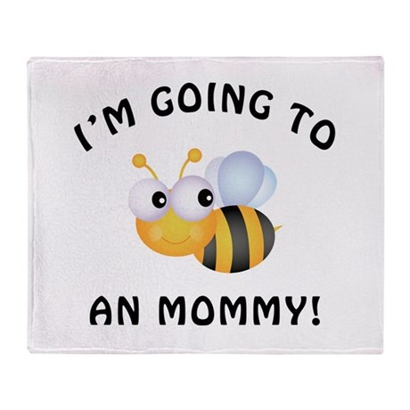 Going To Bee A Mommy Throw Blanket