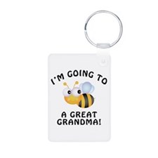 Going To Bee A Great Grandma Keychains