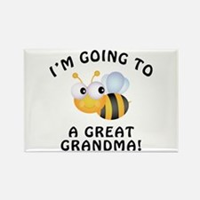 Going To Bee A Great Grandma Rectangle Magnet