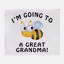 Going To Bee A Great Grandma Throw Blanket