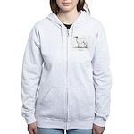 Borzoi Women's Zip Hoodie