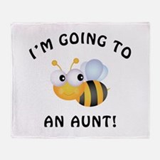 Going To Bee An Aunt Throw Blanket