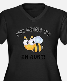 Going To Bee An Aunt Women's Plus Size V-Neck Dark