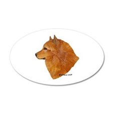 Finnish Spitz 22x14 Oval Wall Peel