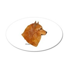 Finnish Spitz 38.5 x 24.5 Oval Wall Peel