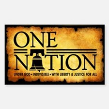 One Nation - Parchment Decal