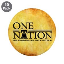 """One Nation - Parchment 3.5"""" Button (10 pack)"""