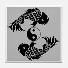 Yin Yang Koi Tile Coaster