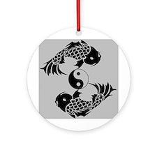 Yin Yang Koi Ornament (Round)