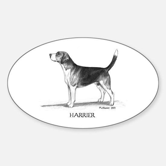 Harrier Sticker (Oval)
