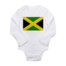 Jamaican Flag 1 Long Sleeve Infant Bodysuit