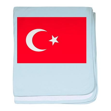 Turkish Flag 1 baby blanket