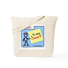 Red Memo Cheese Tote Bag