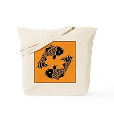 Yin Yang Koi Tote Bag