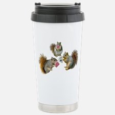 Squirrels Poker Stainless Steel Travel Mug