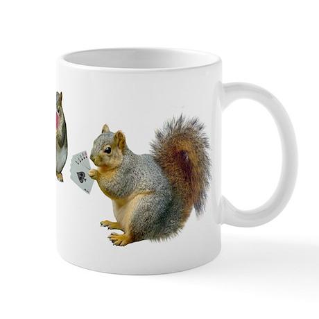 Squirrels Poker Mug