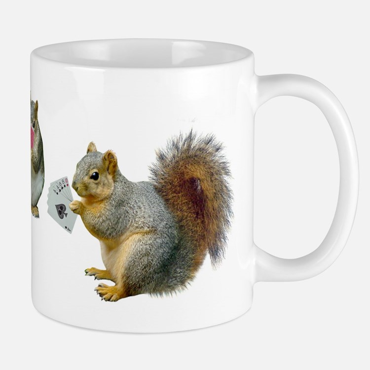 Squirrels Poker Mug