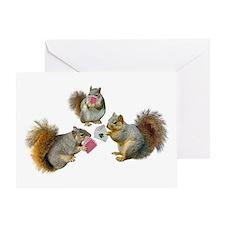 Squirrels Poker Greeting Card